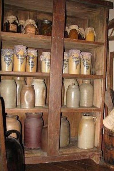 Old Cupboard of crocks