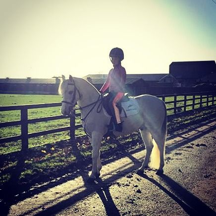 Junior rider Paige Wright & Jimmy on shoot #AW16  #behindthescenes