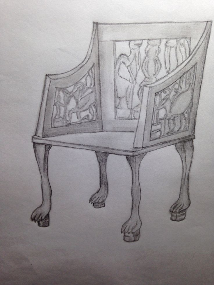 Egyptian Chair Furniture Drawings Pinterest Chairs