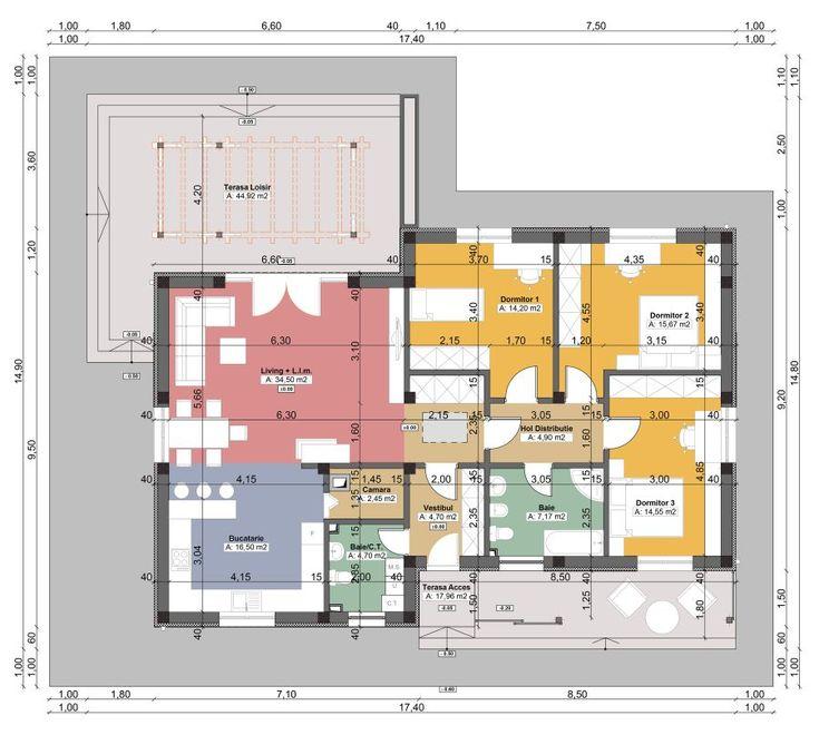 Proiecte de case mici fara etaj si terase