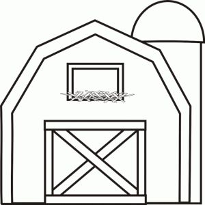 barn-coloring-pages | Barn crafts, House colouring pages ...
