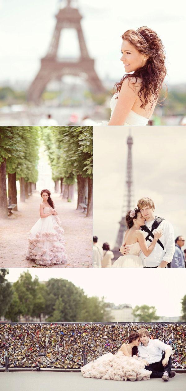 Sesje zagraniczne - Paryż   Paris Honeymoon Photo Session from EmmPhotography   Style Me Pretty