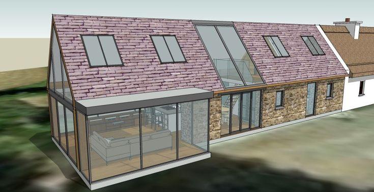 Linehan Construction  3D house extension plan