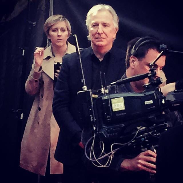 Alan Rickman BFI 58th London FF Little Chaos 17 Oct 2014 . Someone has run it through a filter, like on Instagram or something
