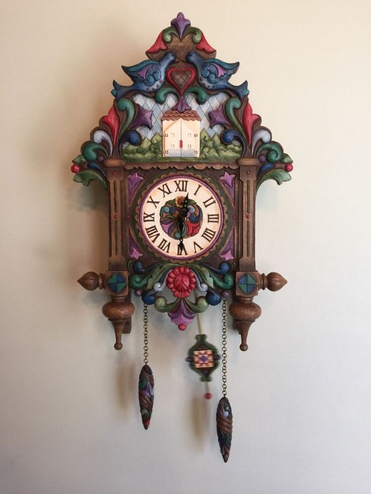 Details About Jim Shore Heartwood Creek Rare Cuckoo Clock