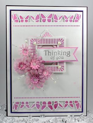 Happy Friday,   Another double day as I promised to give a closer view of the card I made on my first Hochanda show on Wednesday evening a...
