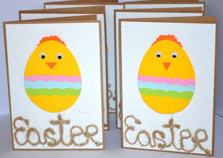 #Easter Cards Set #Easter Greeting Cards #Easter Egg Card #Easter Chicks Card #Blank Cards Handmade #Greeting Cards Handmade Pack of 6 by KateLandLovemade on Etsy