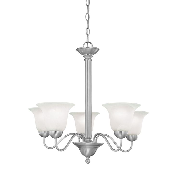 Thomas Lighting SL881178 Riva Collection Brushed Nickel Finish Traditional Chandelier