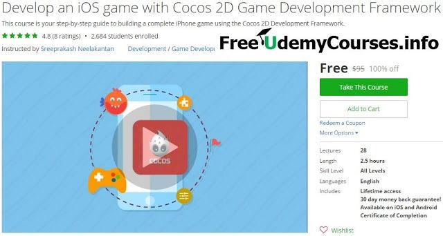 [#Udemy 100% Off] Develop an #iOS game with Cocos 2D Game Development Framework   About This Course  Published 2/2016English  Course Description  What if you could make your own amazing iOS Game and have millions of downloads and users from all around the world?  Well we can't get you so far that's just up to you but we can ge you started and that is the most important step from your journey!  This course will help you kick start your iOS game development journey using the Cocos 2D…