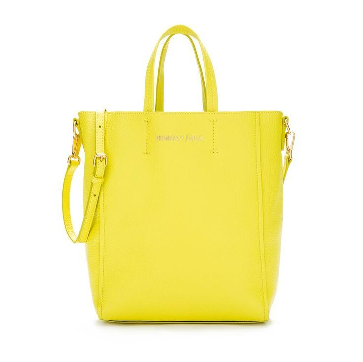 TOTES Bolso shopper piel amarillo AMARILLO