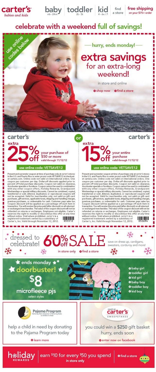 Carters.com coupon code