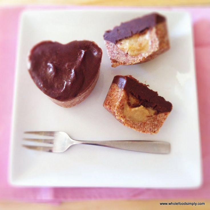 choc topped caramel hearts