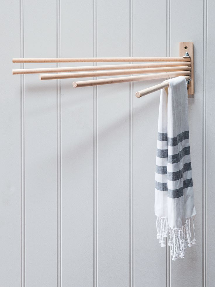 The perfect solution for when space is tight, our wall mounted dryer has been made from natural raw beech wood with a smooth, contemporary finish. Ideal for drying damp tea towels or hanging aprons and oven gloves, this simple dryer includes five moveable rungs that can be folded flush to the wall when not in use.  As this product is crafted from raw beech wood, we recommend applying a hard wax oil treatment on an annual basis to avoid any marking or staining.