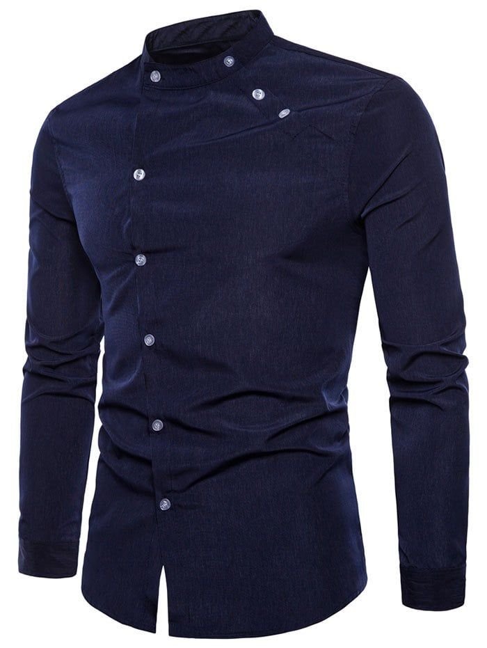 2019 Outdoor Men/'s Slim Fit Casual Shirt Long Sleeved Military Shirts Dress Tops