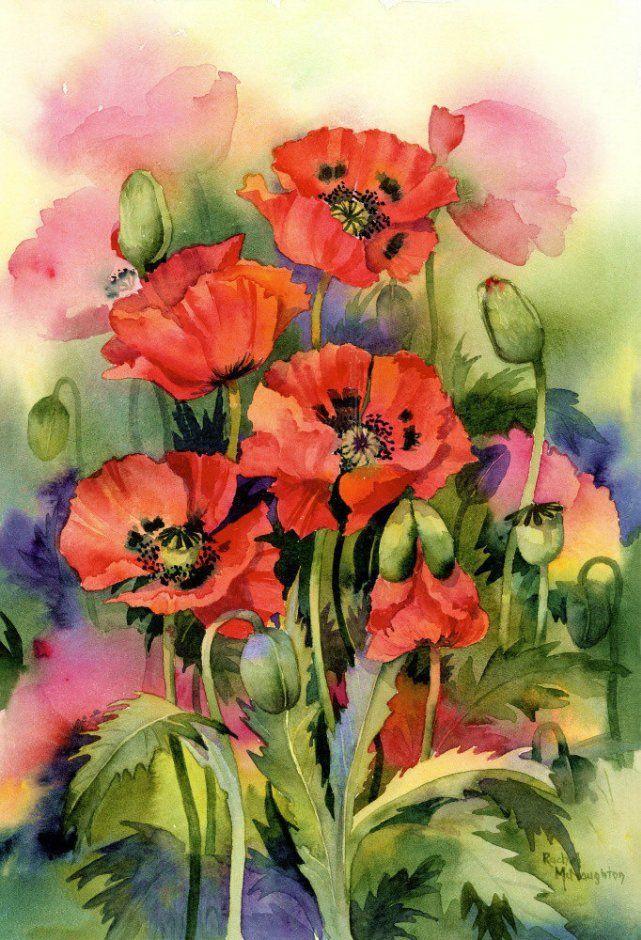 Спящего смешная, цветы акварель картинки нарисованные