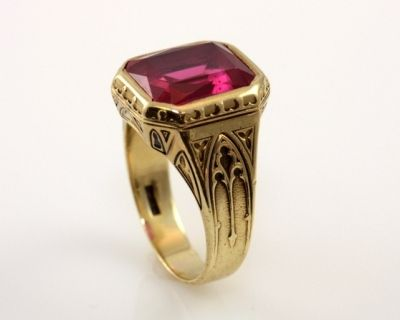 An exquisite antique men's ruby ring created by Larter & Sons.