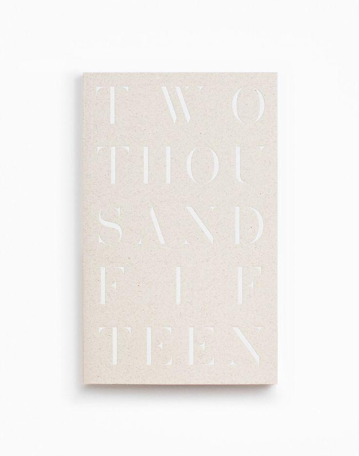 White Foil 2015 Daily Planner / Julia Kostreva.