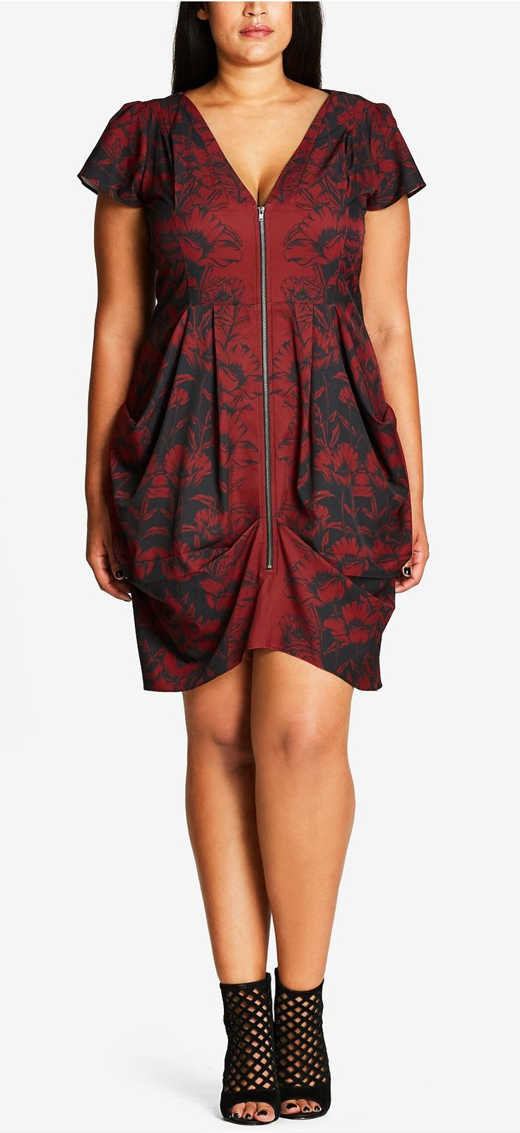 Plus Size Printed Tunic Dress