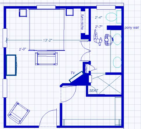 Ensuite Master Br Layout But Take The Walk In Robe The Full Length Of The Bedroom Get Rid Of