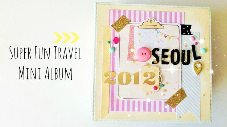 5th & frolic travel mini album share. Used a lot of washi tape, enamel dots, sequins, thickers and wood veneers