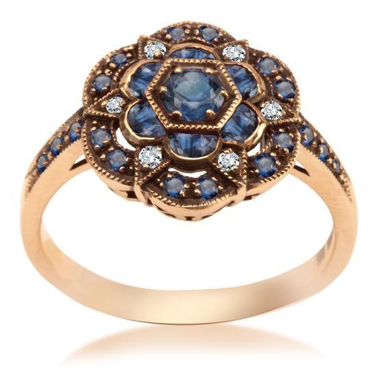 Kolekcja Wiktoriańska - Pierścionek z Brylantami i Szafirami, 2695 PLN www.YES.pl/51844-kolekcja-wiktorianska-pierscionek-z-brylantami-i-szafirami-BB-Z-000-Y01-9517S #jewellery #gold #BizuteriaYES #shoponline #accesories #pretty #style