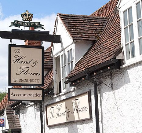 """Tom Kerridge's 2 michelin starred pub and rooms """"The Hand & Flowers"""" in Marlow"""