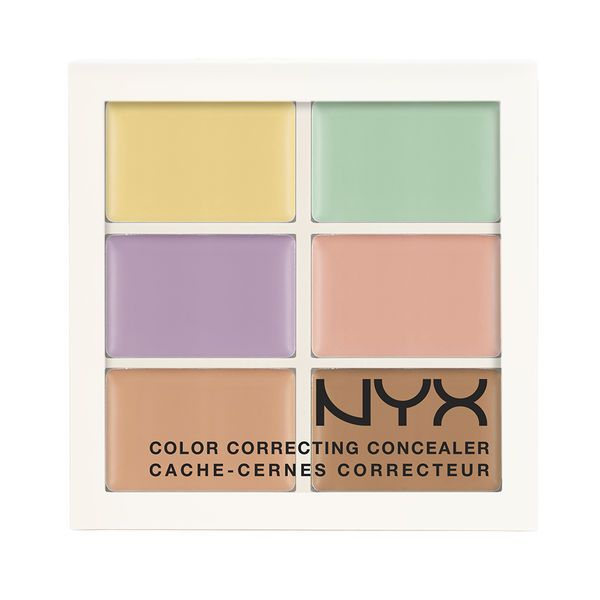 NYX Color Correcting Palette - great palette for hiding splotches, rosacea, under-eye bags, pimples, etc. (see Pin I posted on my board 'Best Makeup...' what explains exactly what each of these colors are used for).