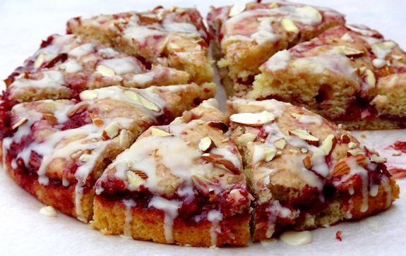 Raspberry Almond Coffee Cake (looks easy enough to substitute dairy ...