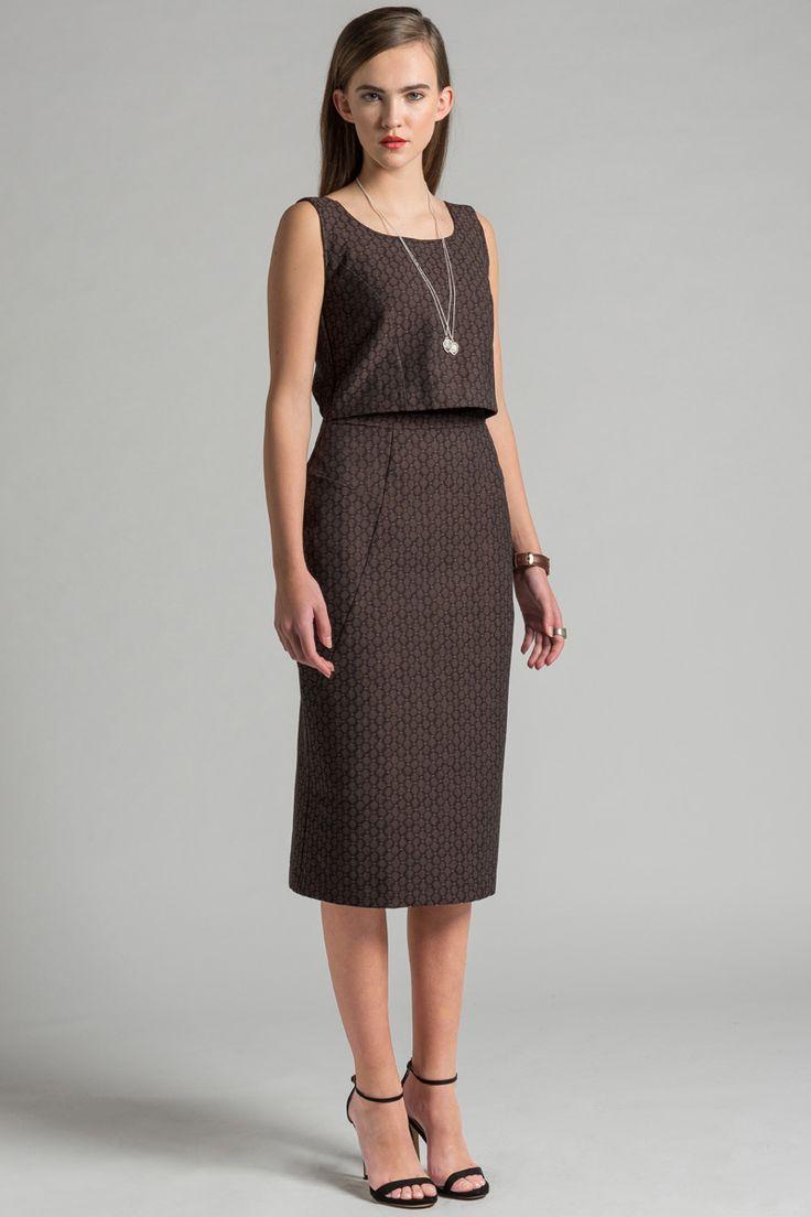 Graduate Dress by Allison Wonderland. Faux two piece dress. Made in Canada.