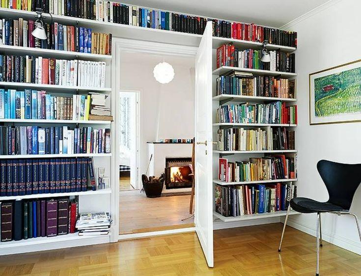 Die besten 25+ Bücherregal mit türen Ideen auf Pinterest - hausbibliothek regalwand im wohnzimmer