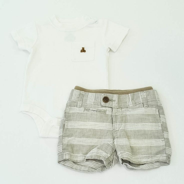 Baby Boy 3-6 mos. Onesie and Shorts- Gently Used- BabyGap- Click to see the whole lot!