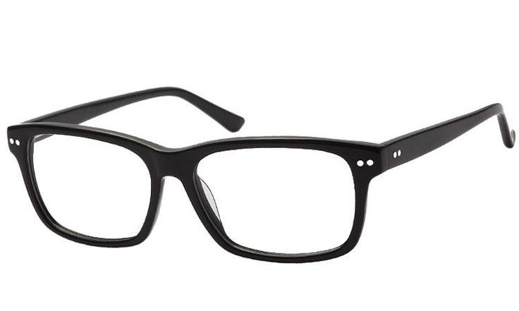Classic Black - große HOH #Brille mit vernieteten Bügeln: Fassung ab nur 1,- € bei 1EuroBrille.de auf http://1eurobrille.de/1E-10169-850150