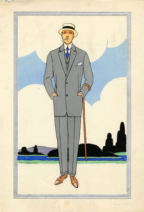 Vintage Mens Fashion Illustrations - 1920s Mens Style - Esquire