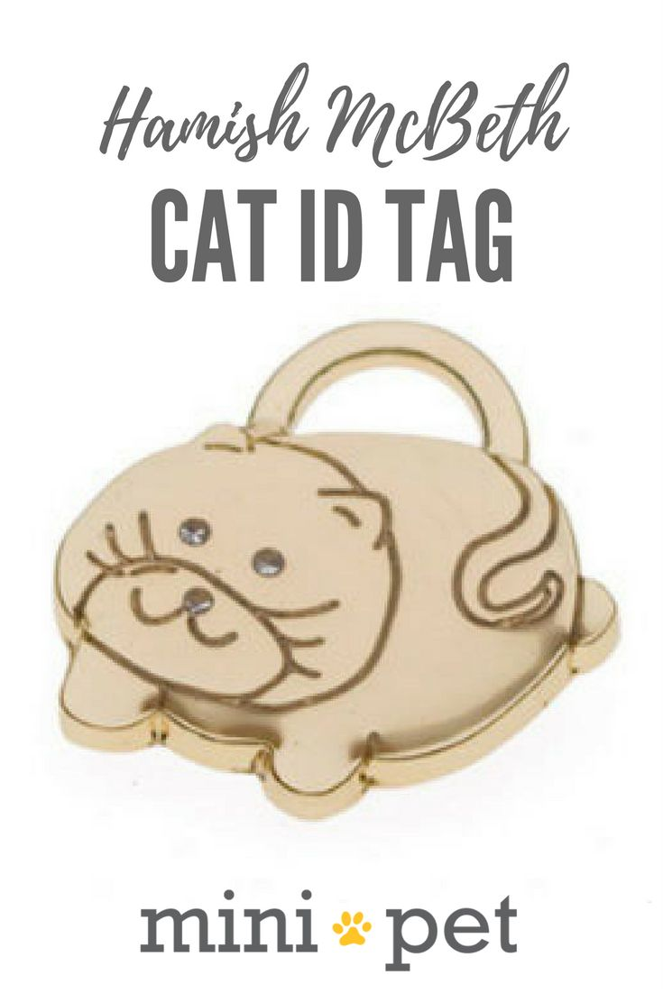 This cute, kitty shaped shaped bling Mini-sized cat ID Tag features sparkly Czech crystals for eyes and is fully engravable. Due to it's small size, it is very lightweight and your cat will love it! This cat ID tag has been designed with a tough protective coating on it's face for long term durability. A split ring is included.
