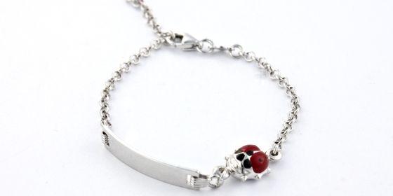 Lady Bug identity i.d. bracelet. Find it at www.giftedmemoriesjewellery.com.au
