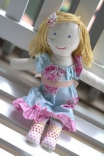 "Rag Doll Tutorial - what a cute little doll to make for your favorite ""little"" girl..."