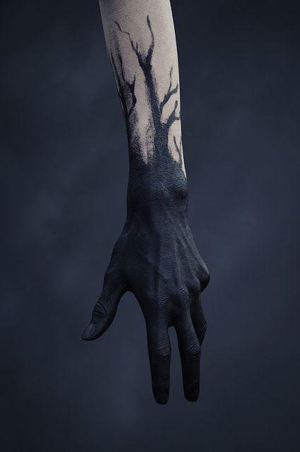 Tatuagens do estilo Blackout