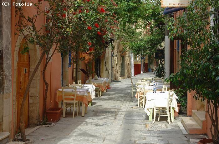 Restaurant dans une ruelle - Gouves