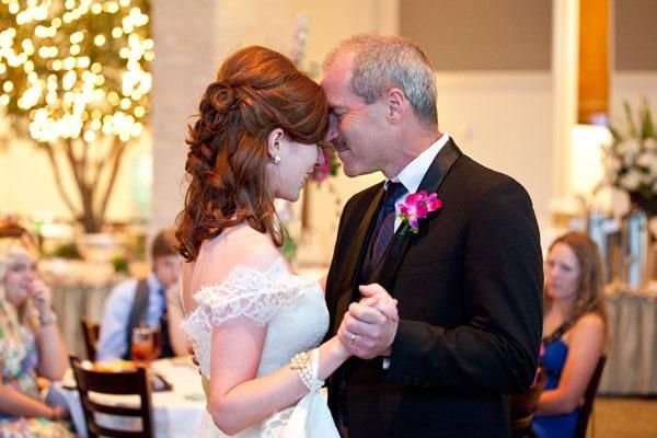 Instead of a father-daughter dance... Include guests in the father-daughter dance by having your emcee invite other fathers and daughters to join you two on the floor.