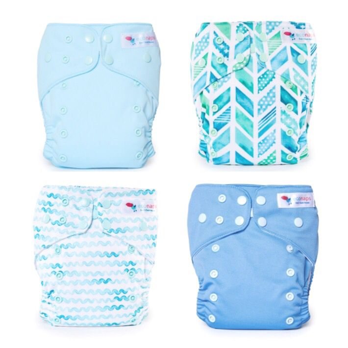 Ocean Collection   EcoNaps Designer Modern Cloth Nappies, hand styled in Byron Bay, Australia. Reusable,  Eco friendly Organic stylish baby diapers.