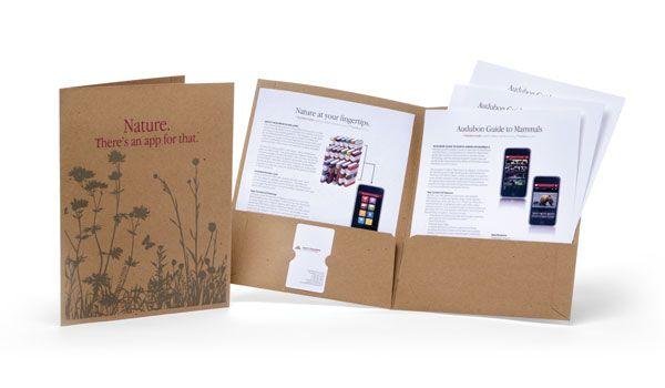 Audubon Guides Folder Kit by Brandthropology Press Kits - resume folders