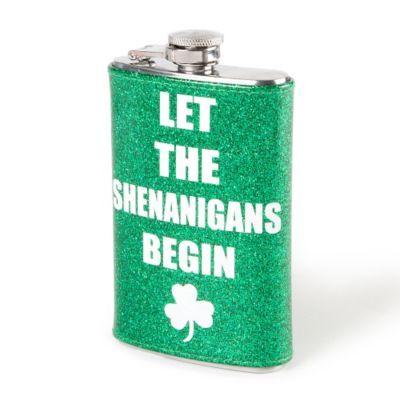 St. Patrick's Day Let the Shenanigans Begin Flask #st.patricksday