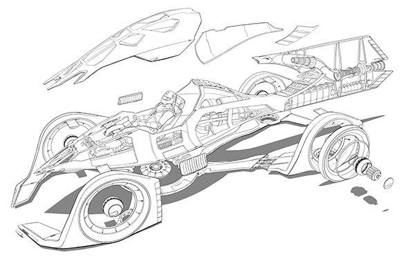 Ferrari 2100, Electric Rocket Hybrid on Behance | Ferrari ...