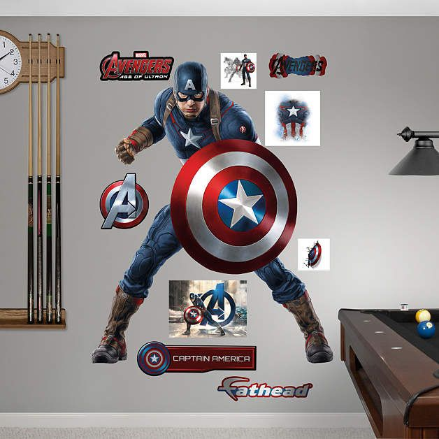 Best Avengers Wall Decals Images On Pinterest Wall Stickers - Vinyl wall decals avengers