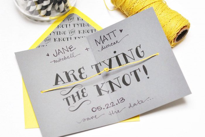 Free printable save the date cards and envelope liners from Smitten On Paper #free #printables #save-the-date