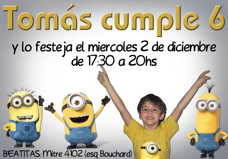 #Invitacion #cumpelaños #Minnions #TaitEventos