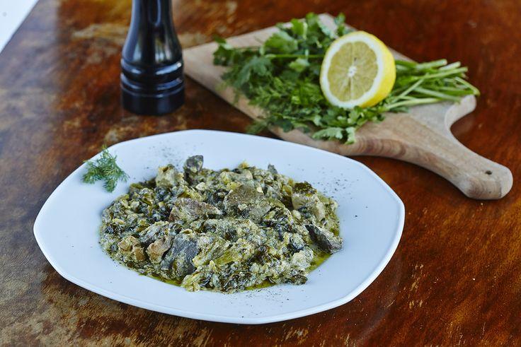 Συκωταριά (αρνίσια) φρικασέ | Lamb livers fricassée with lettuce