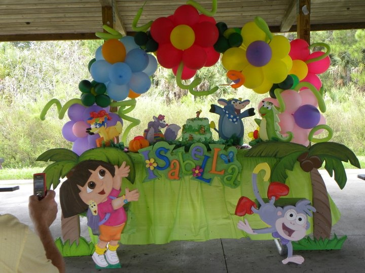 Dora the explorer principal table party table - Decoracion cumpleanos dora la exploradora ...