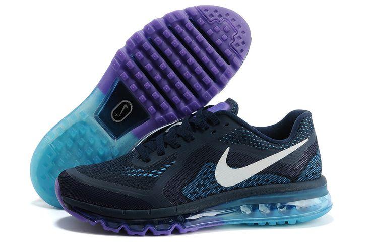 Cheap Nike Air Max 2014 Black Jade Purple Men's Running Shoes