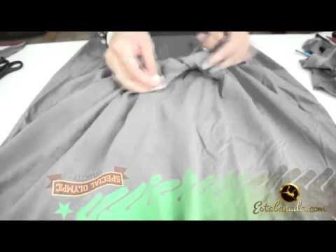 Como transformar uma camiseta masculina em uma T Shirt Feminina - YouTube